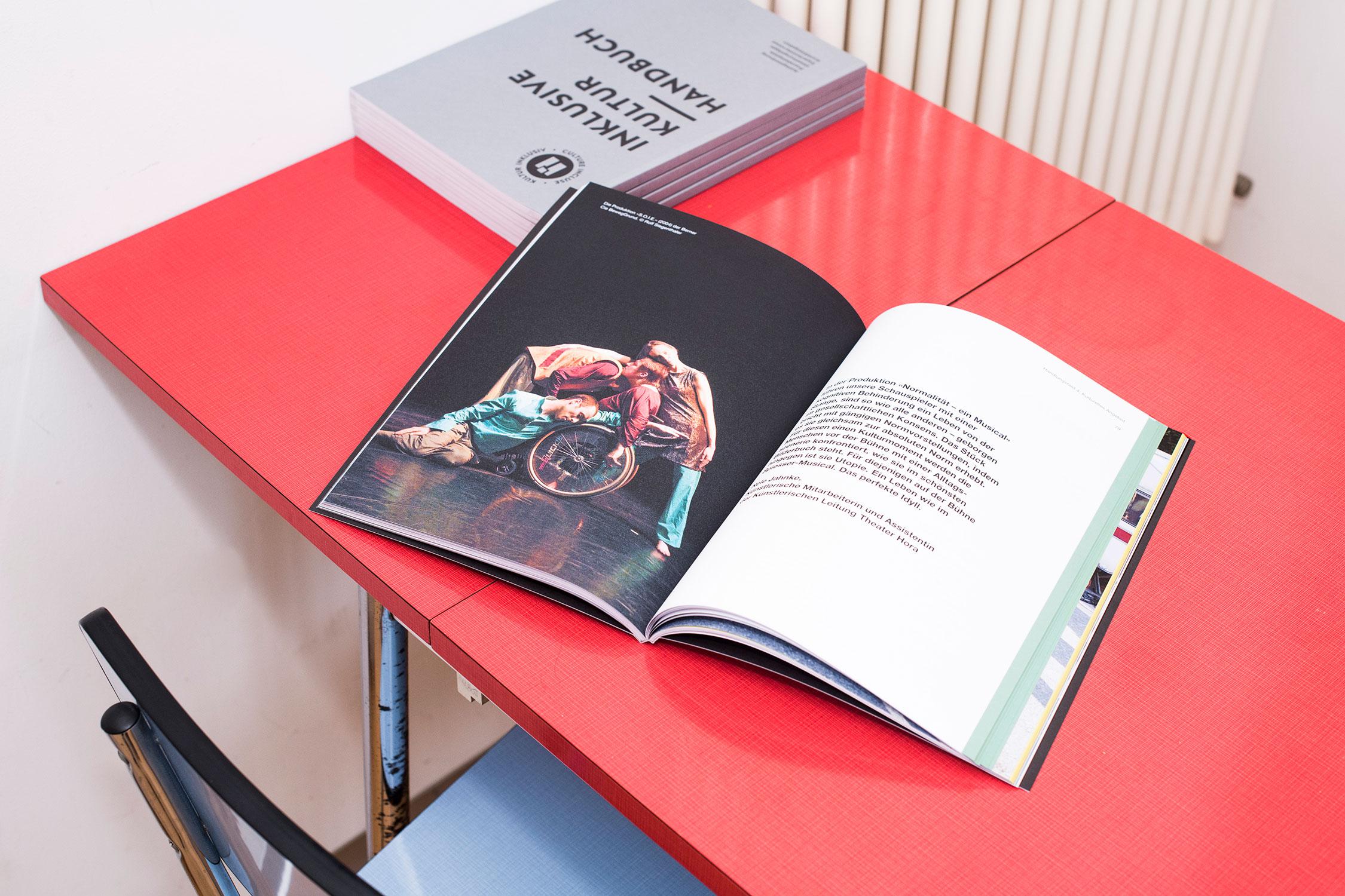 Melanie Brandel, Grafikdesign Bern, Solothurn, Buchgestaltung, Handbuch für das Label kulturinklusiv, pro infirmis