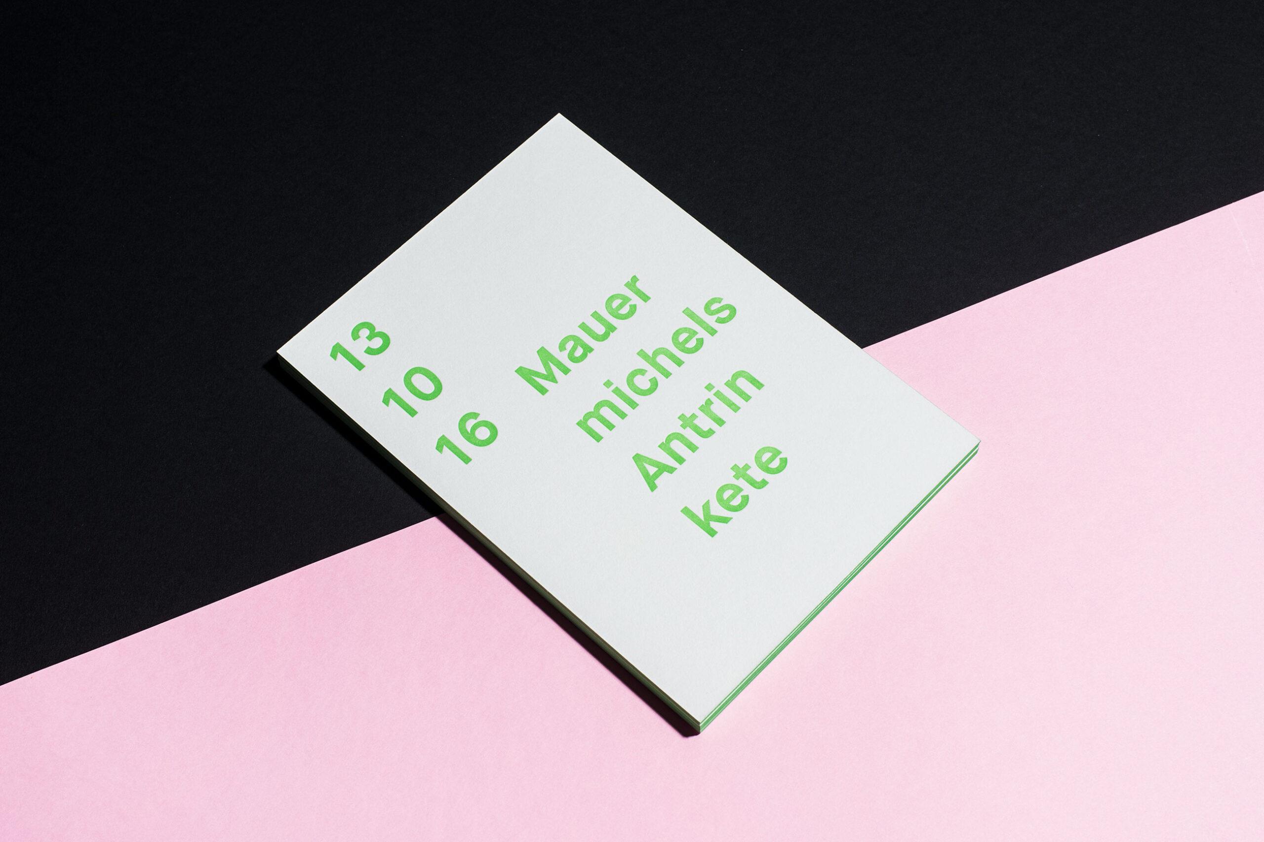 Event Einladung, Melanie Brandel - Manufaktur für Gestaltung, Bern, Solothurn, Design, Grafik, Art Direction, Typografie, Webdesign, Branding, Corporate Design, Editorial Design, Logos, Geschäftsberichte, Buchdesign