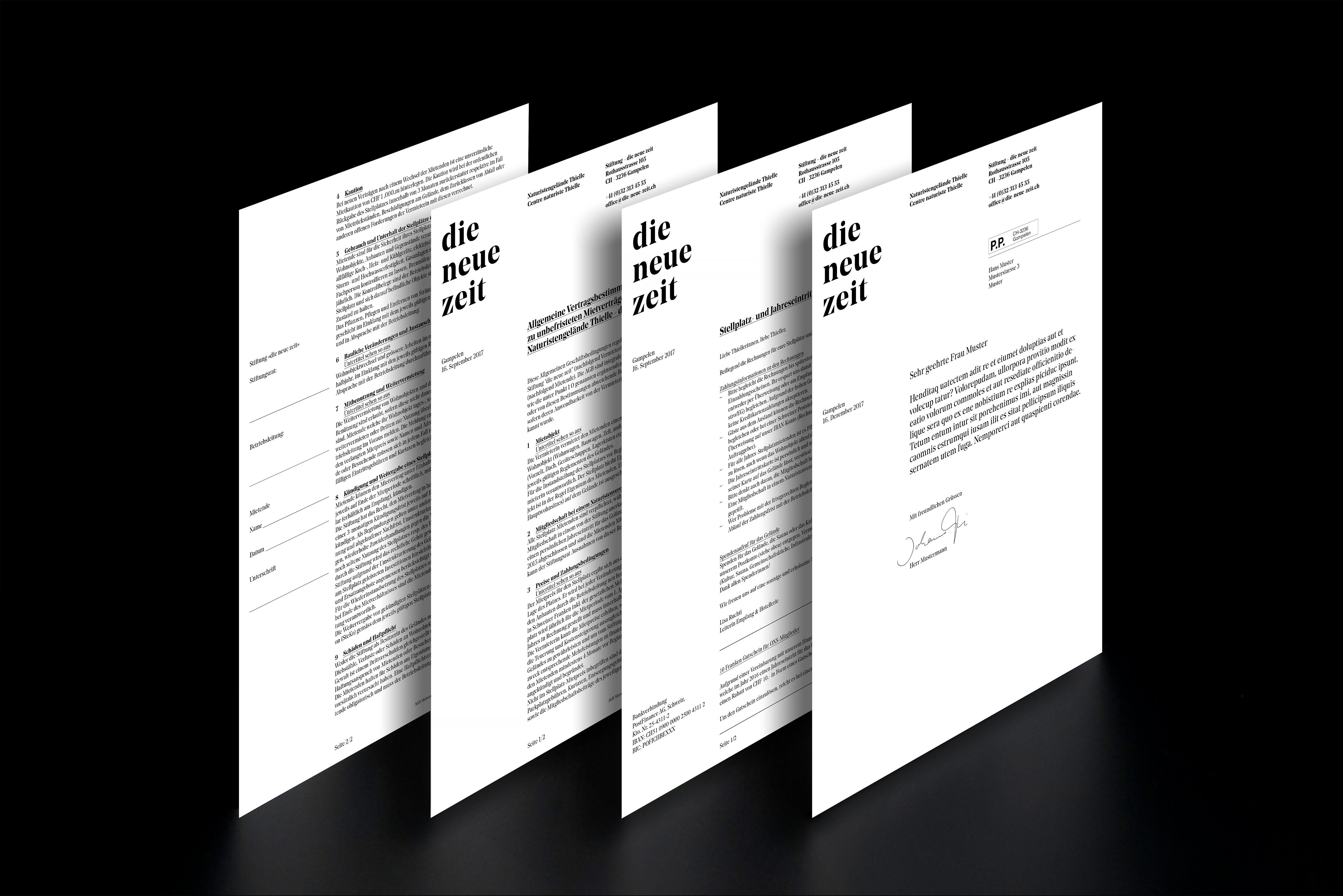 Melanie Brandel, Grafikdesign, Bern, Solothurn, Branding, Corporate Design für das Gelände Thielle