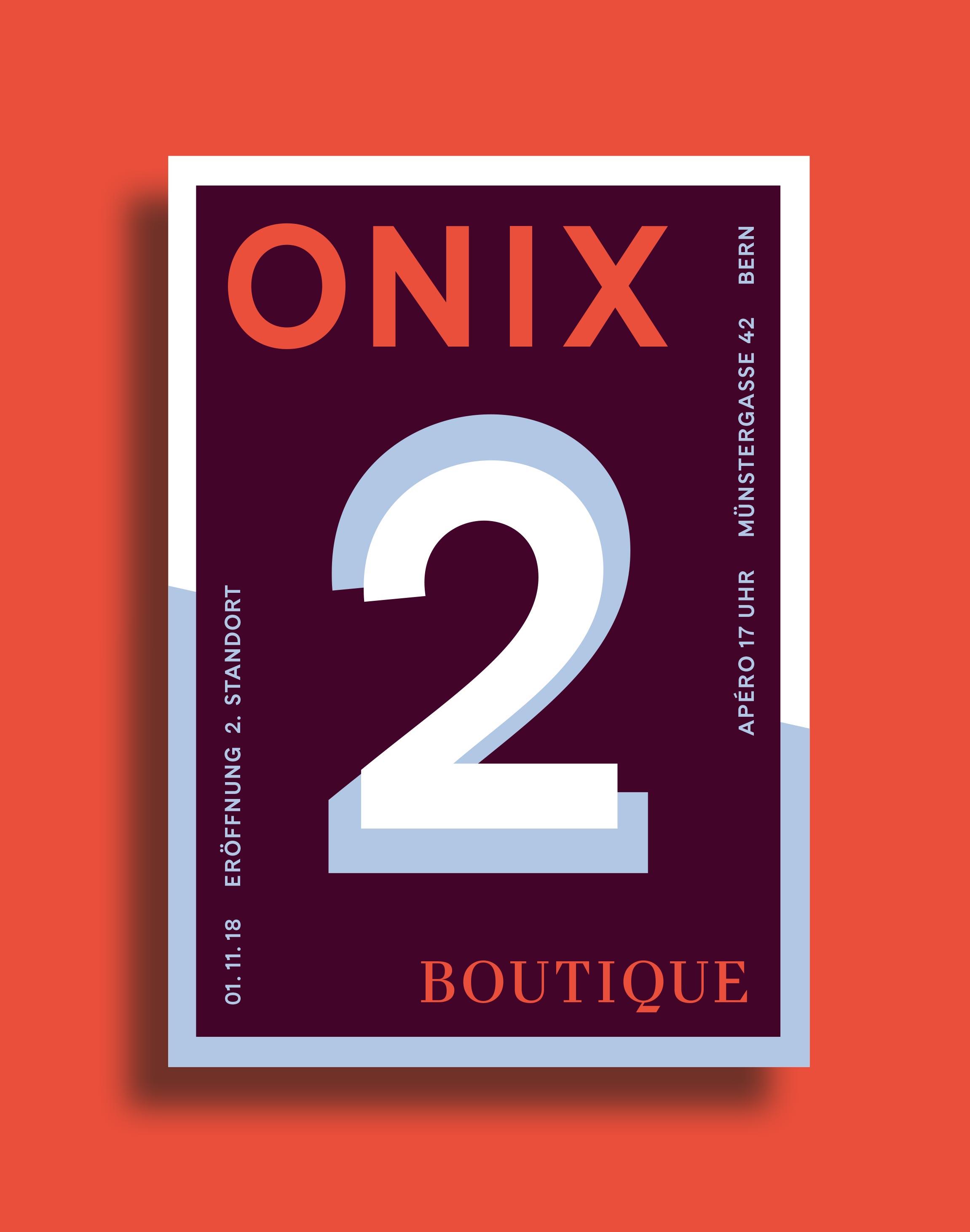 Melanie Brandel, Grafikdesign, Bern, Solothurn, Corporate Design, Onix Boutique, Münstergasse, Illustration, Typografie