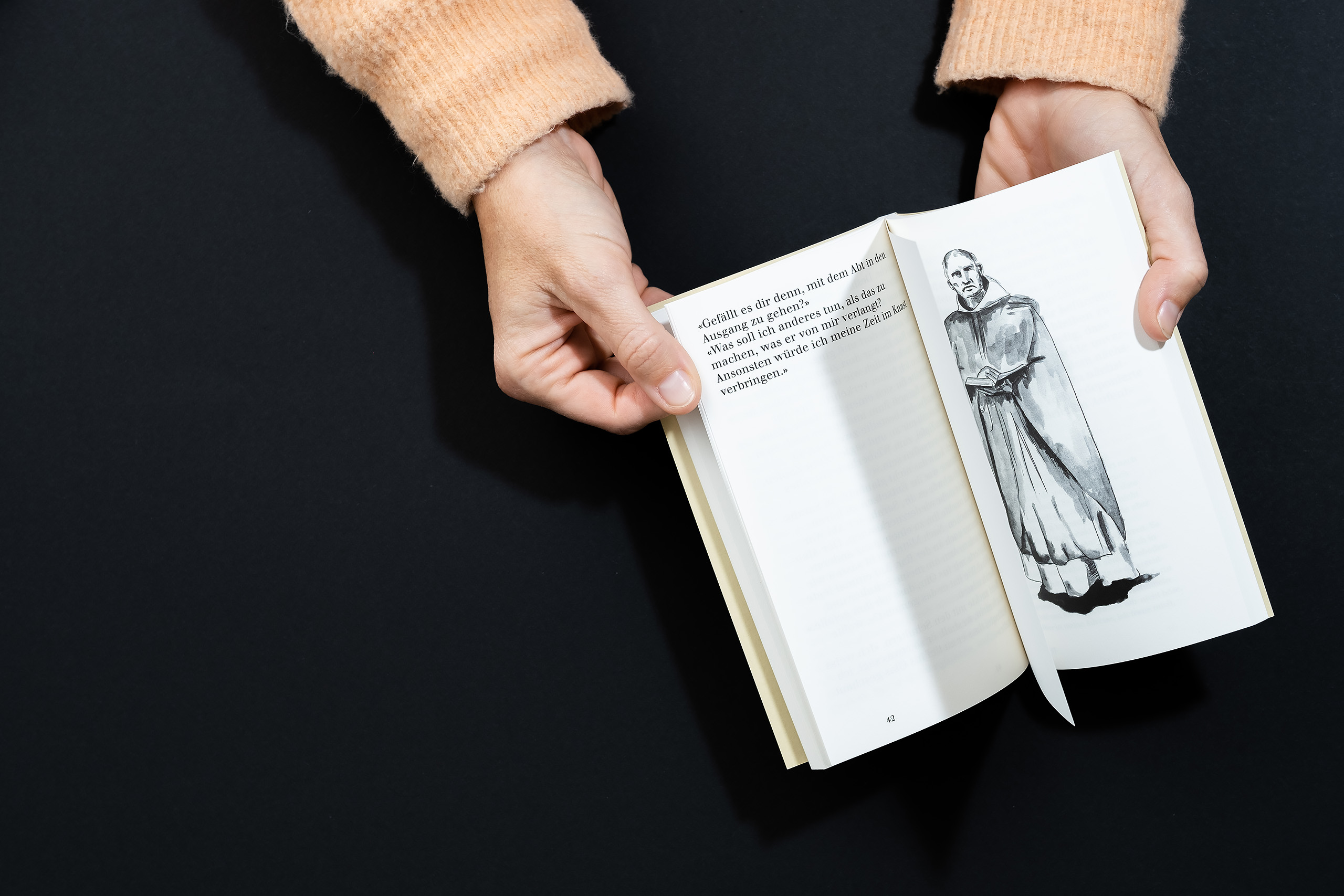 Melanie Brandel, Grafik Bern, Grafik Solothurn, Buchgestaltung, Editorialdesign, Typografie, pentaprim.ch, Daniel Stalder, David Bisang, Hinter den Klostermauern von Beatrice Häberli, Roman